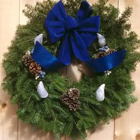 Coastal Blueberry Wreath