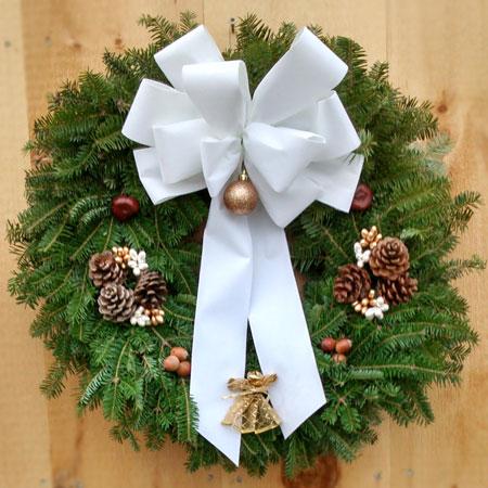 White Deluxe Wreath